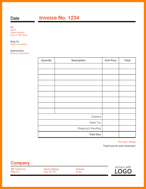 Editable Invoice Template Example PDF