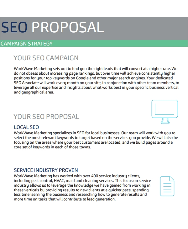 SEO Proposal Template Example PDF
