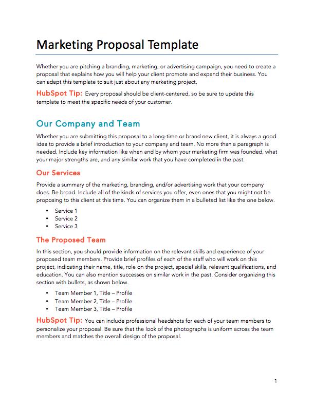 Digital Marketing Proposal Template Sample