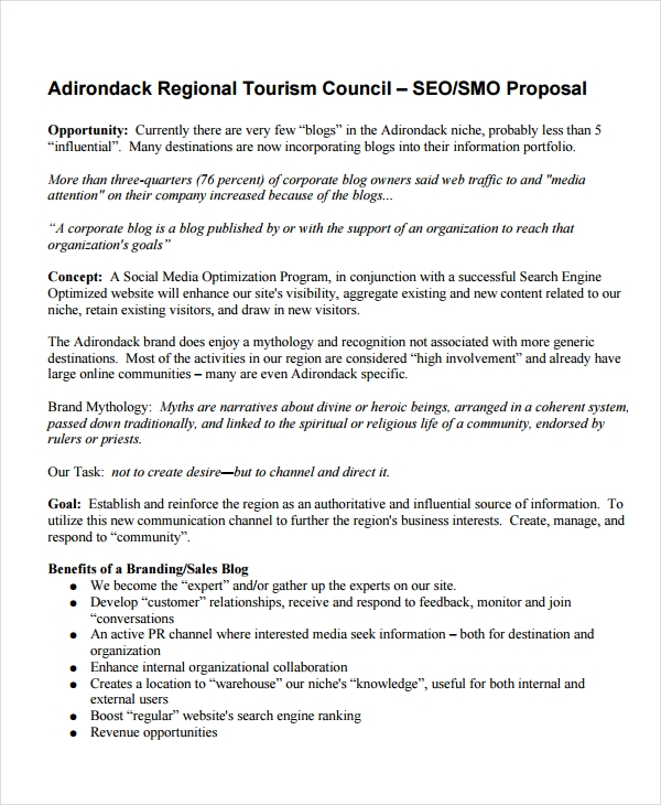 SEO Proposal Template Sample PDF