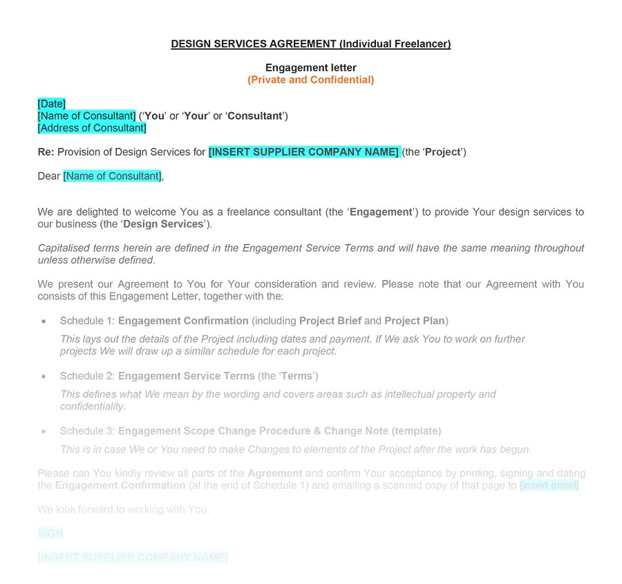 Graphic Design Agreement Template Example