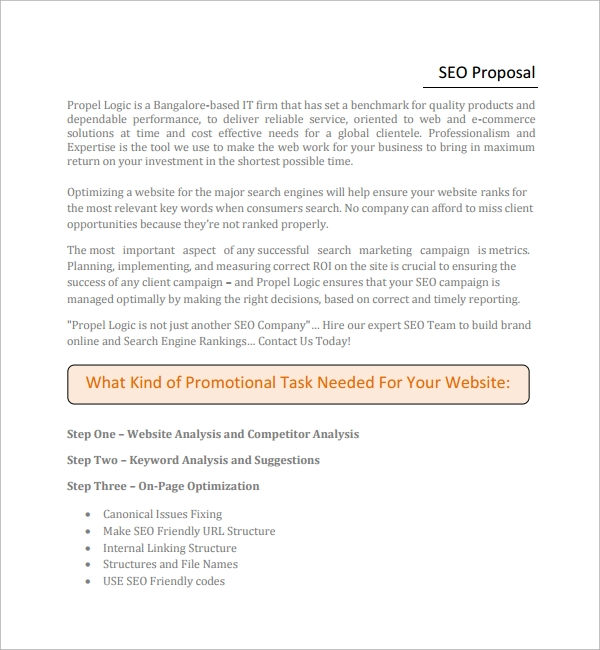 SEO Proposal Template PDF