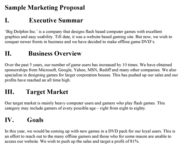 Digital Marketing Proposal Template Sample PDF
