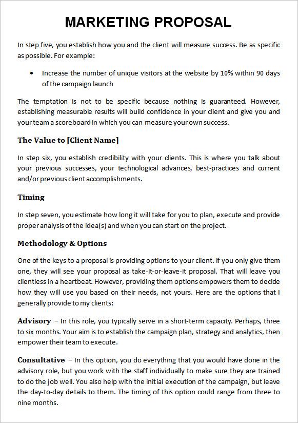Digital Marketing Proposal Template Example PDF