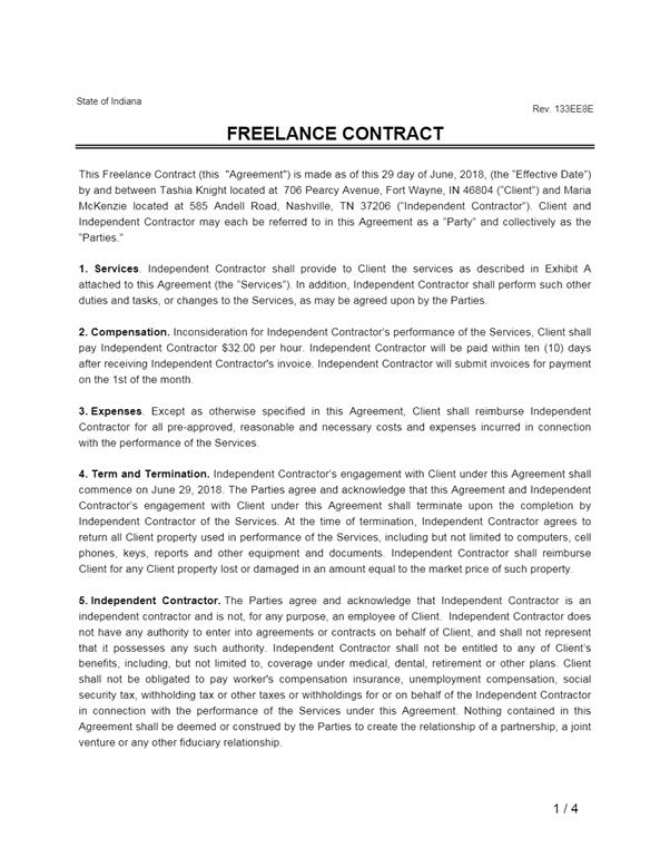 Service Agreement PDF Template