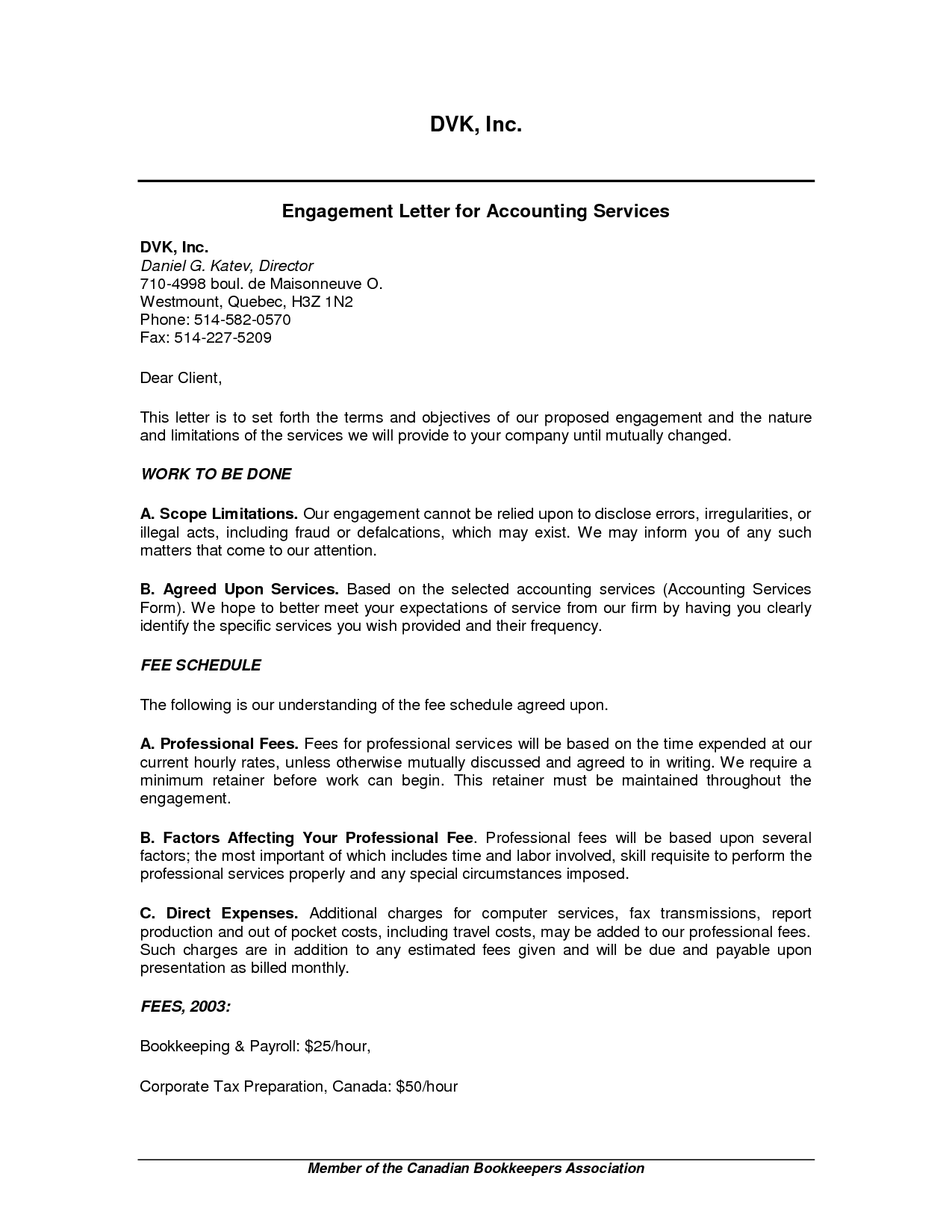 Accounting Services Proposal Template Sample