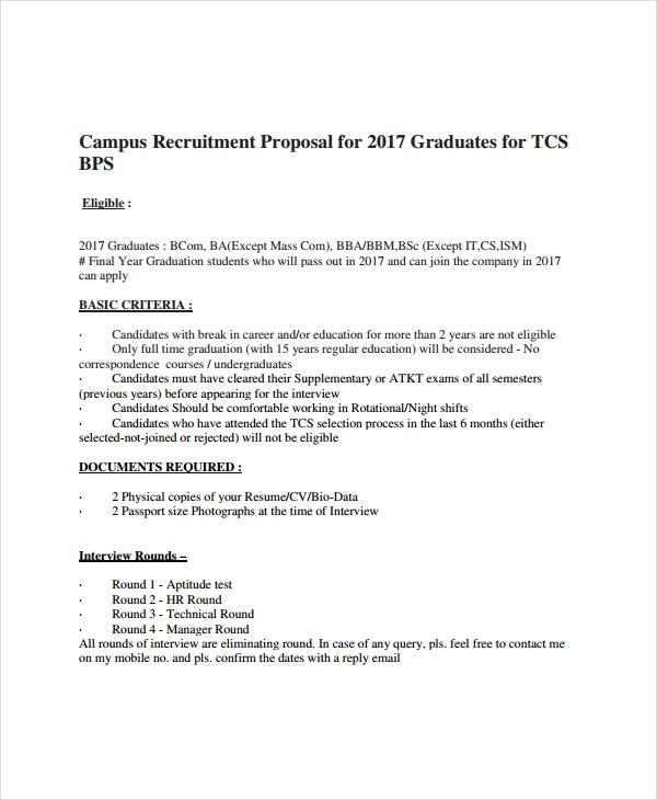 Recruitment Proposal Template Sample