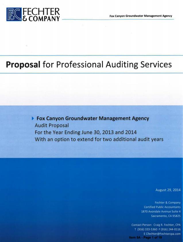 Audit Proposal Template