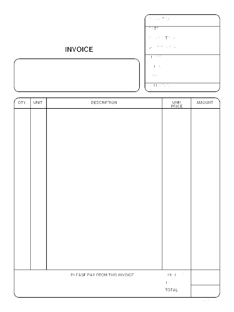 Fillable Invoice Template