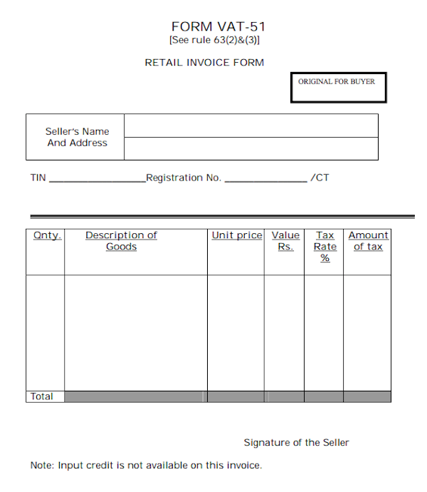 Fillable Invoice Template Sample