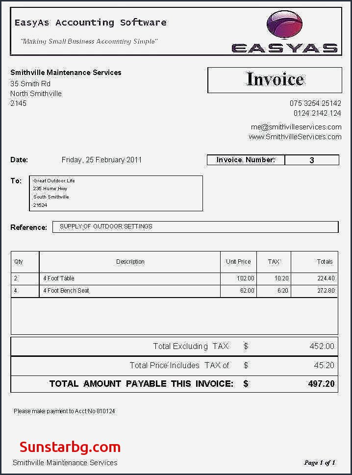 Bookkeeping Invoice Template Sample