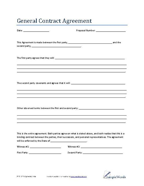 General Contract Template