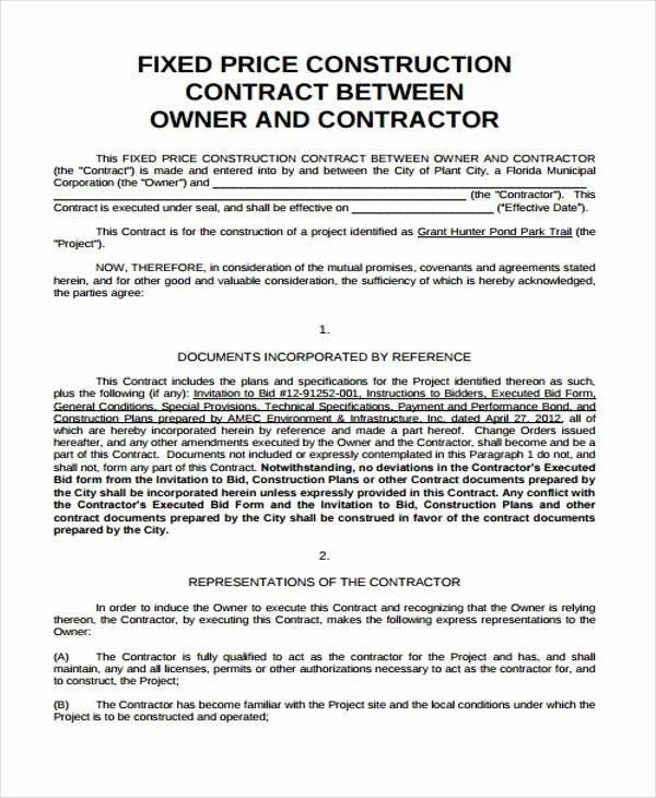 Fixed Price Contract Template