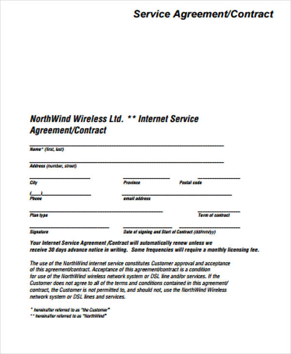 Simple Services Contract Template