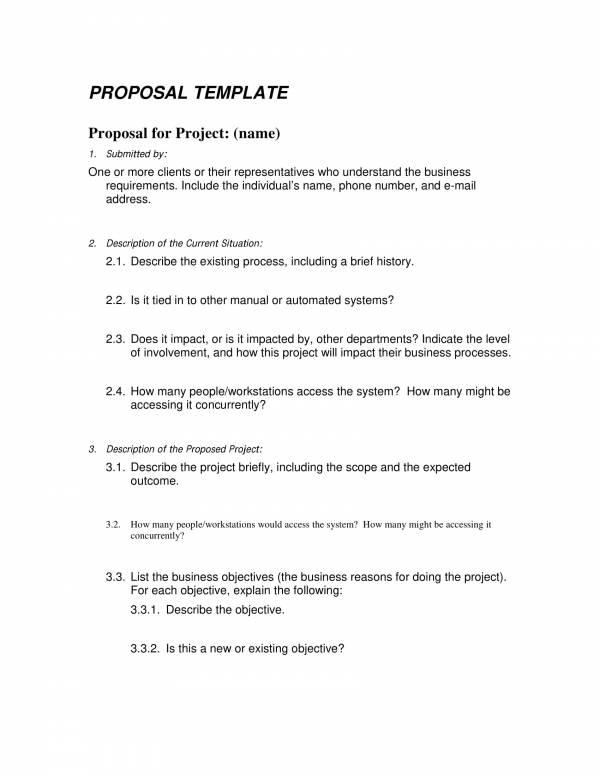 Basic Proposal Template Sample