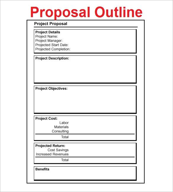Online Proposal Template Example