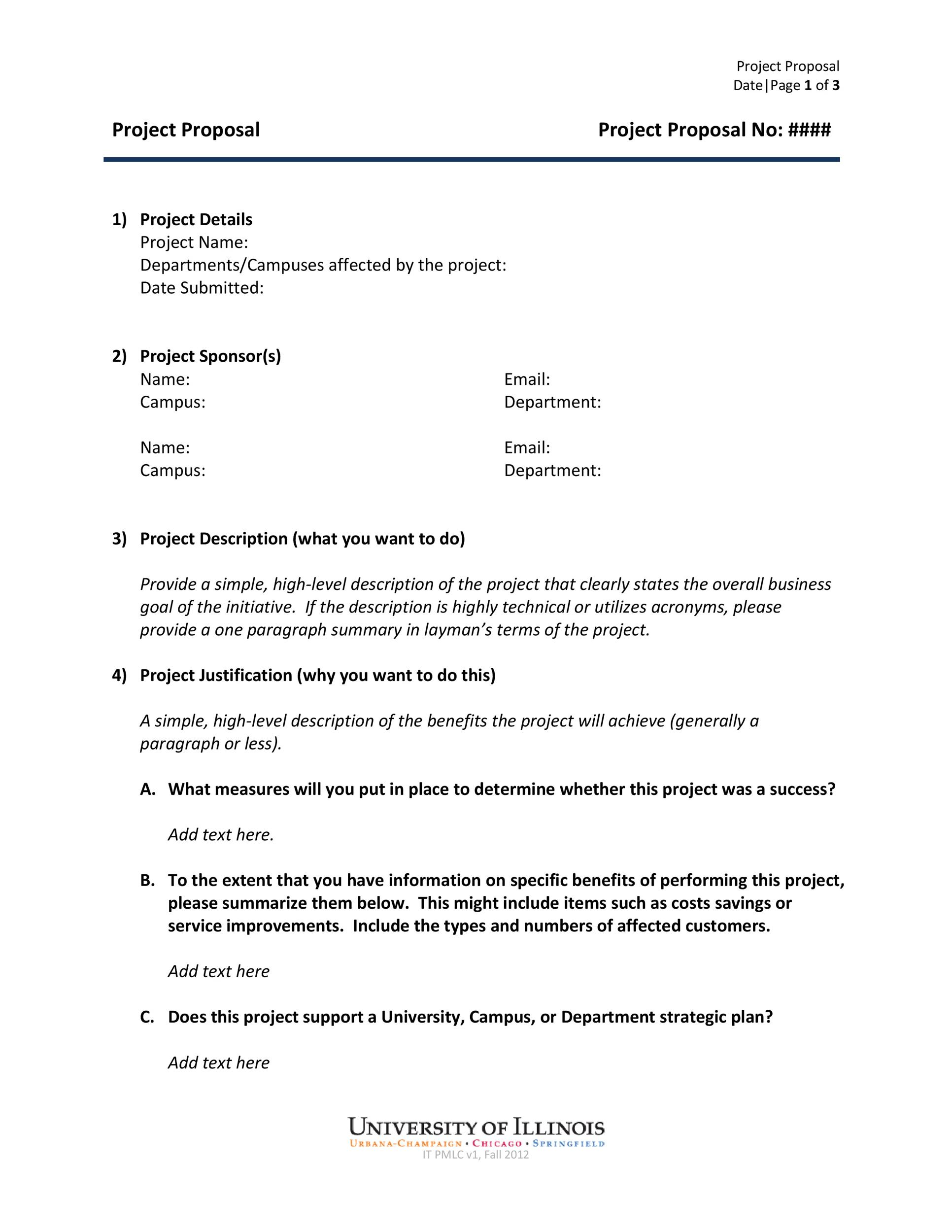 Online Proposal Template Sample