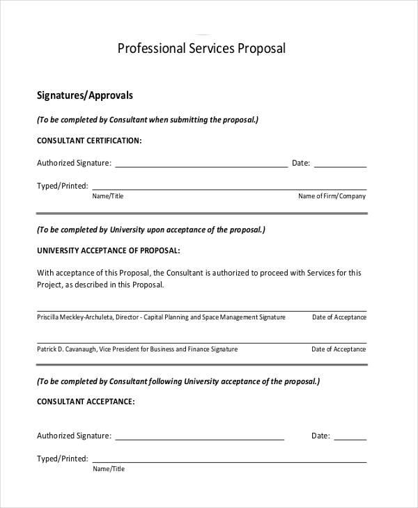 Draft Proposal Template Sample