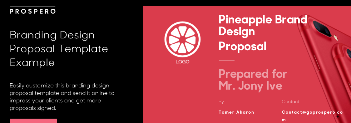 Prospero dashboard