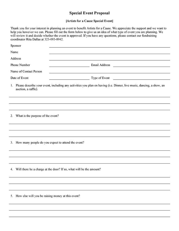 Event Design Proposal Sample