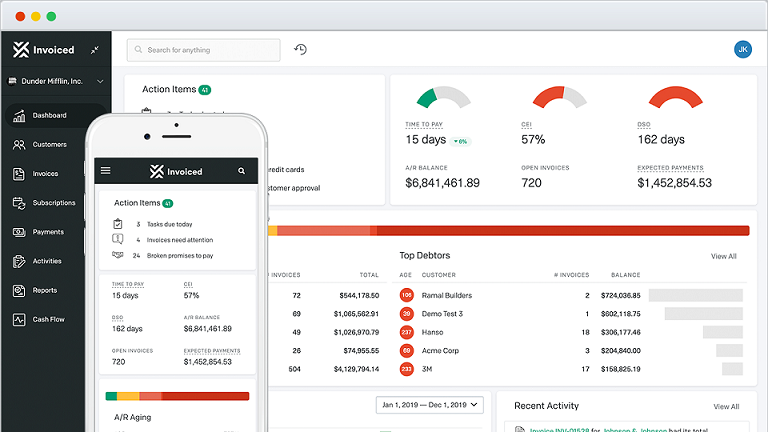 Invoiced dashboard