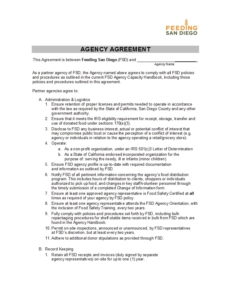 Marketing Agency Contract Template Sample PDF