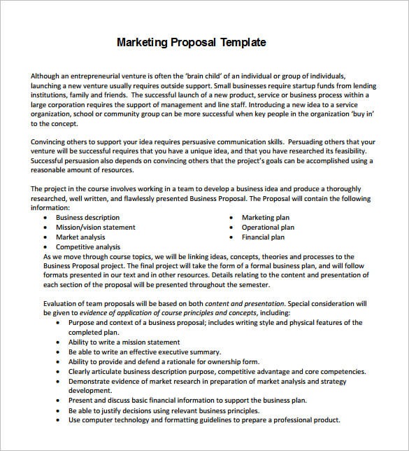 Business Marketing Proposal Template