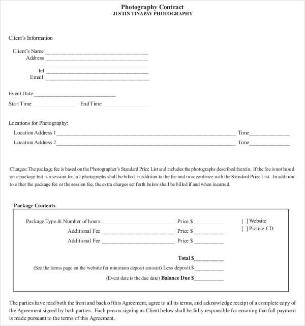 Video Editing Contract Template PDF