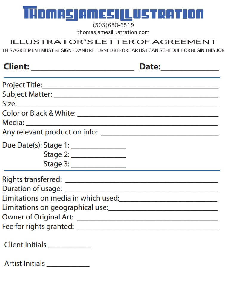 Illustration Contract Template Example