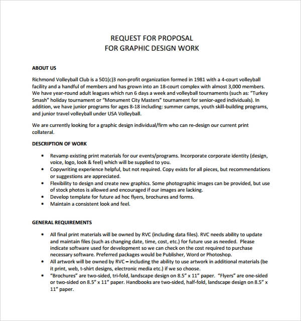 Graphic Design Proposal Template Example