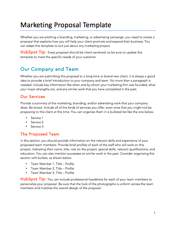 Digital Marketing Proposal Template Sample