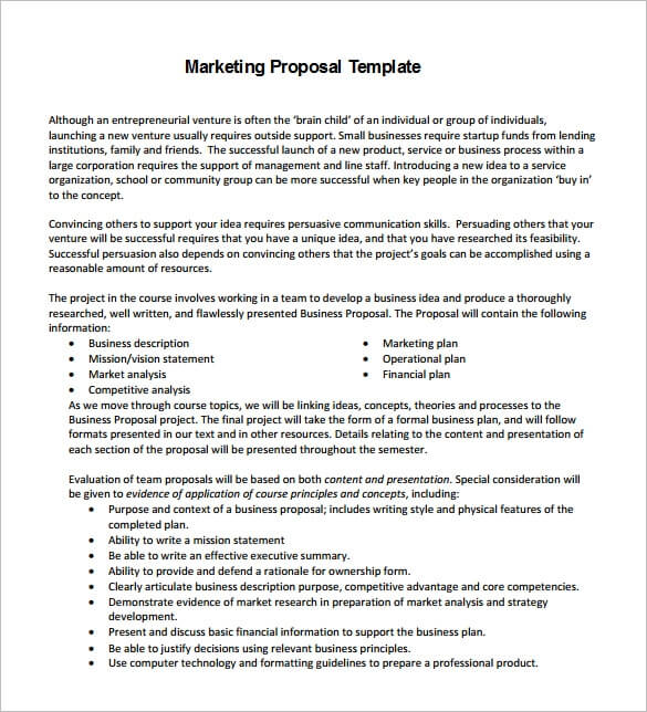 Digital Marketing Proposal Template Word