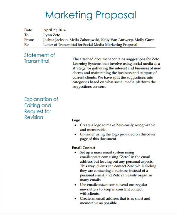 Digital Marketing Proposal Template PPT