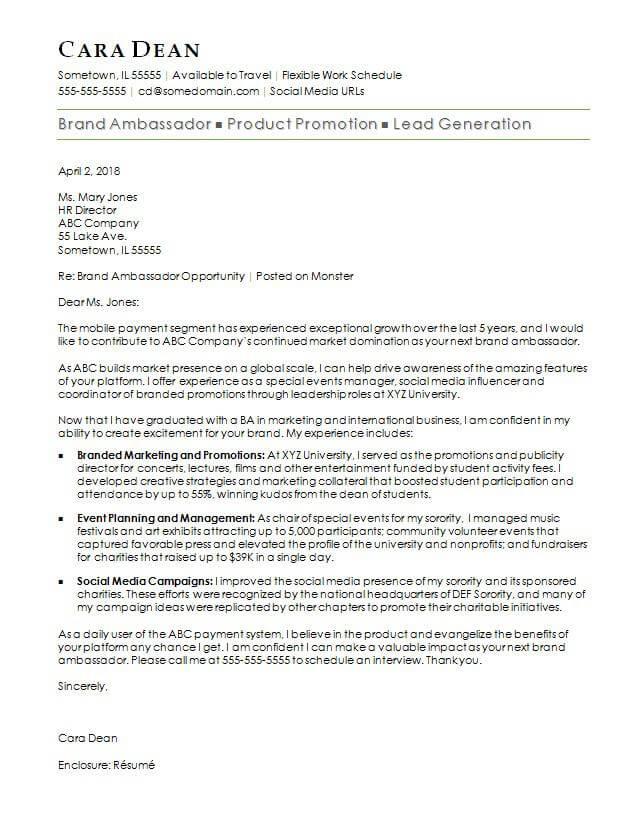 Brand Ambassador Proposal Template
