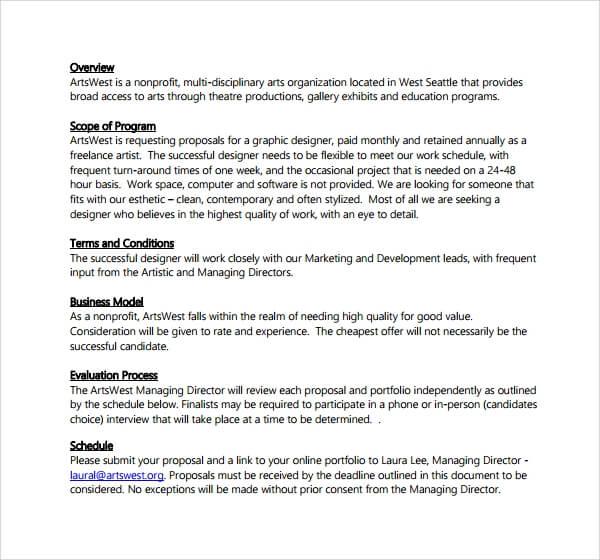 Brand Ambassador Proposal Template Sample