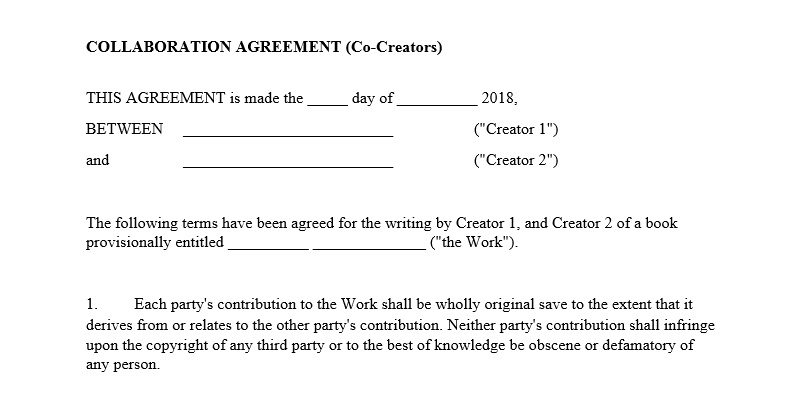 Influencer Collaboration Agreement Template Example