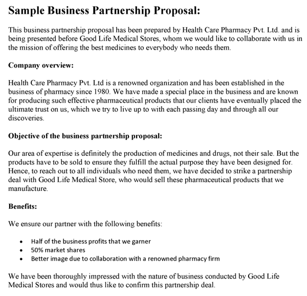 Collaboration Proposal Template