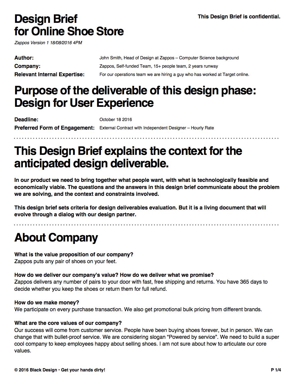 Design Brief Generator