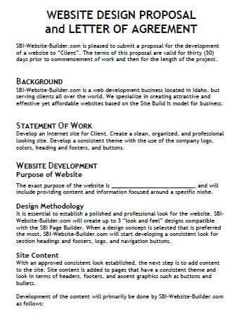 Website Development Proposal Template Sample