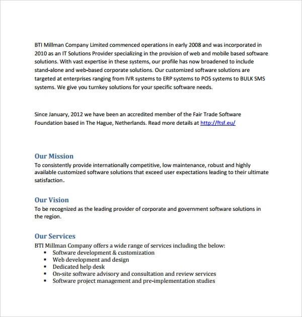 Software Development Proposal Template Sample