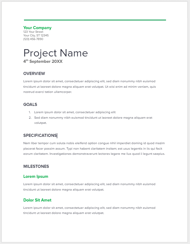 Business Proposal Template Sample