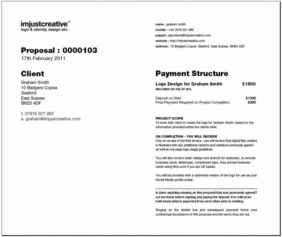 Logo Design Proposal Template Example