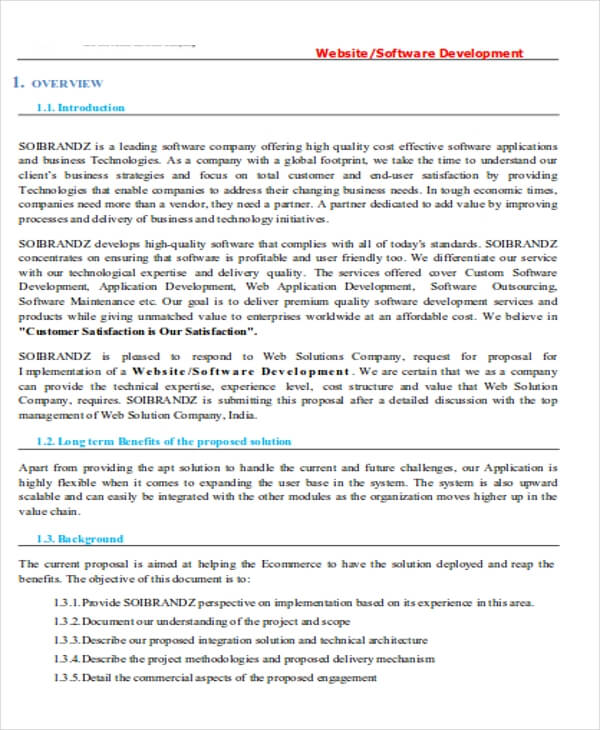 Mobile App Development Proposal Template PDF