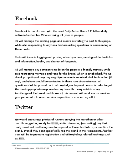 Facebook Marketing Proposal Template