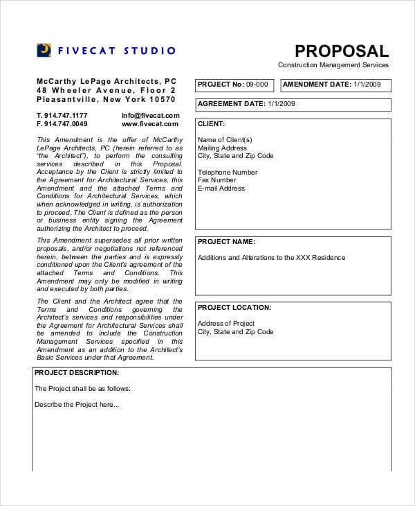 Project Management Proposal Template PDF