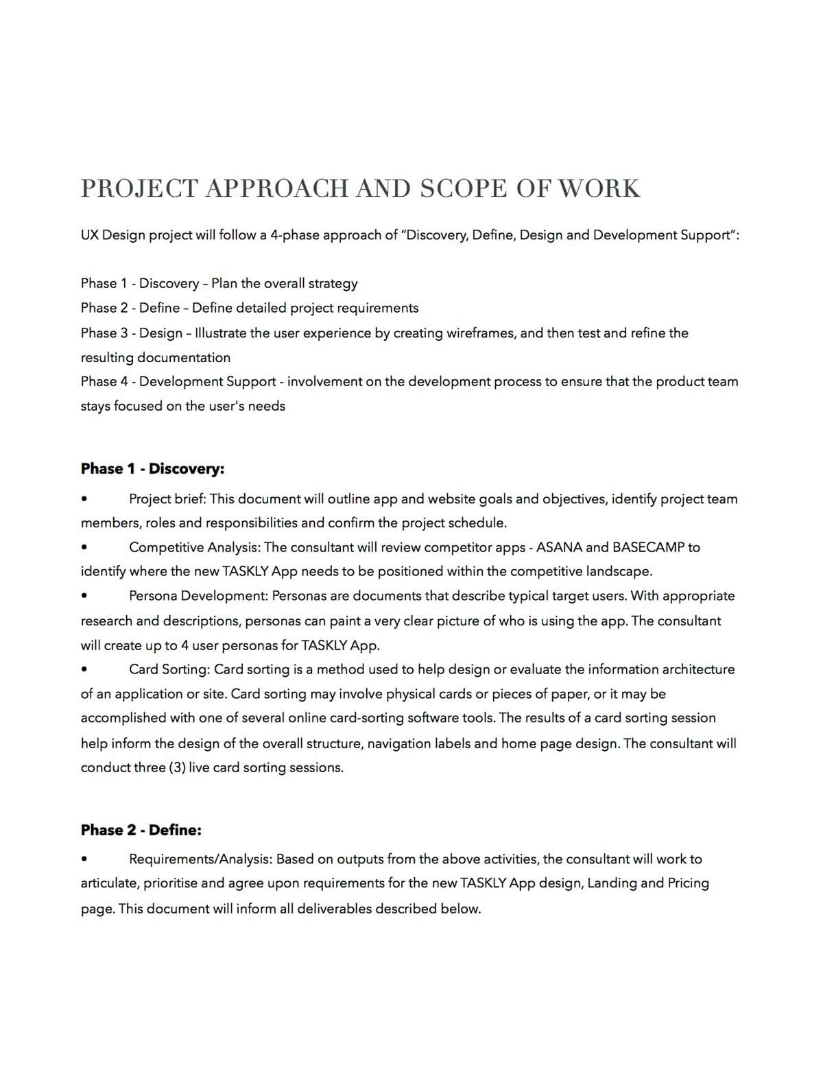 UX Proposal Template