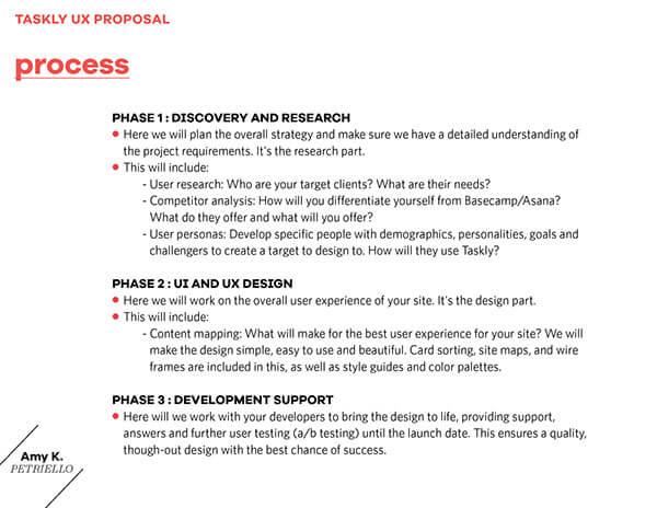 UX Proposal Template Sample