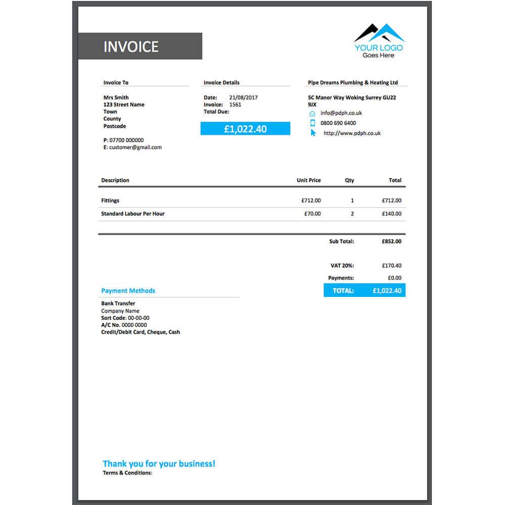Free Digital Marketing Invoice Template Samples Examples Bonsai