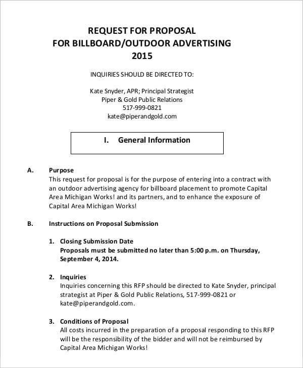 Advertising Proposal Template Sample