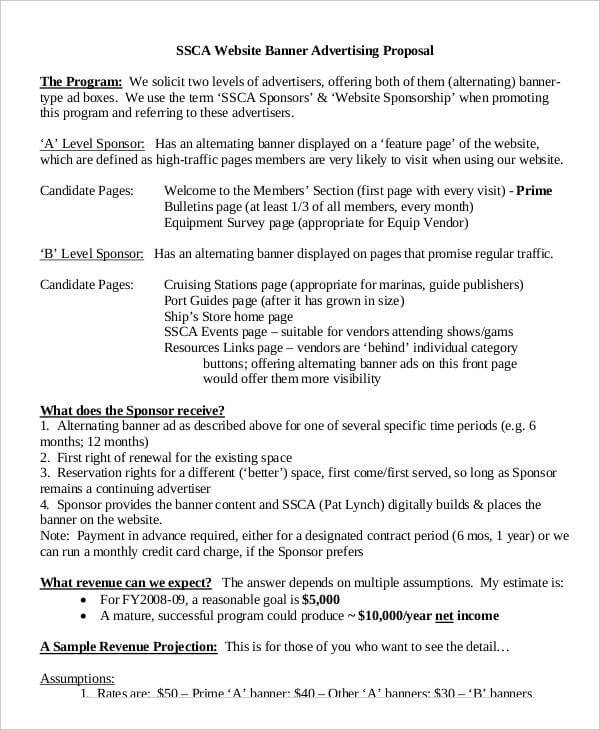 Advertising Proposal Template Example